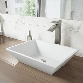VIGO Vinca Matte Stone Vessel Bathroom Sink