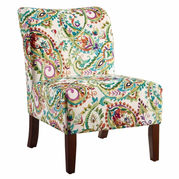 Jules Curved Back Paisley Slipper Chair
