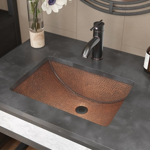 R4-1006 Single Bowl Copper Sink with Grid Drain