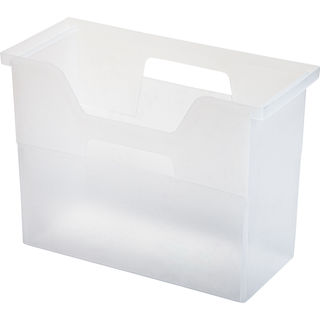 IRIS Medium Desktop File Box, Clear, 6 Pack, Clear