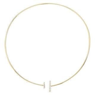 Yellow gold plated with zirconia Necklace -ONE SIZE