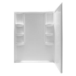 anzzi lexclass white 2piece white corner shower