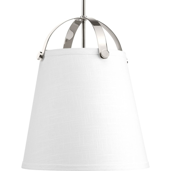 Galley Collection White and Silvertone Steel 2-light Pendant Fixture
