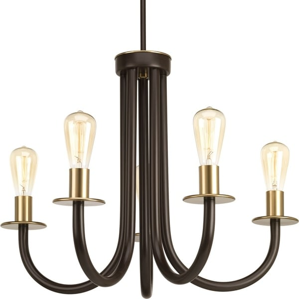 Swing Collection 5-Light Antique Bronze Chandelier