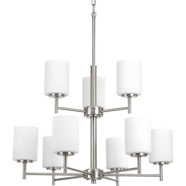 Classic Collection 3-Light Brushed Nickel Chandelier