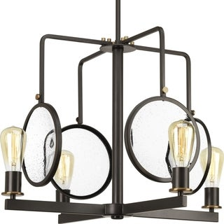 Looking Glass Collection 4-Light Antique Bronze Chandelier