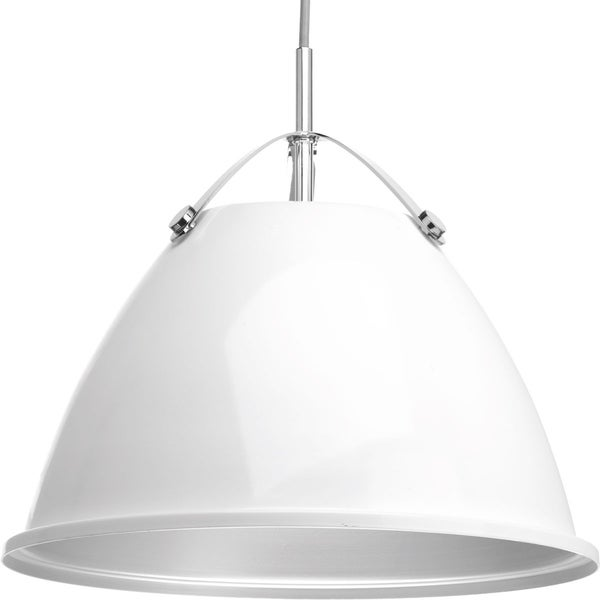 Tre Collection 1-Light White Pendant