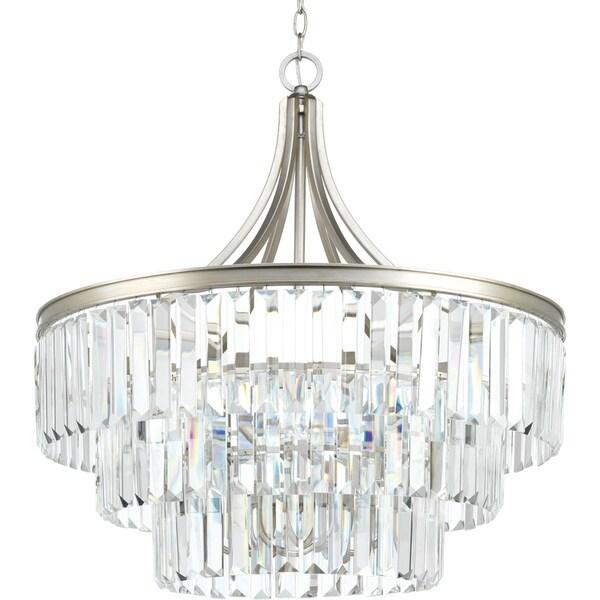 Glimmer Collection 6-Light Silver Ridge Pendant