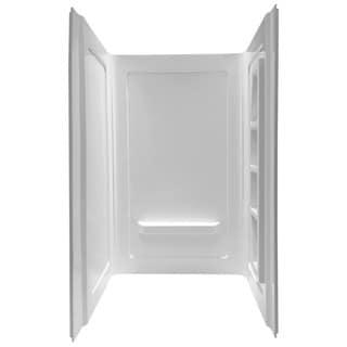 """ANZZI Forum White 48"""" x 36"""" x 74"""" 3-Piece DIY Friendly Alcove Shower Wall"""