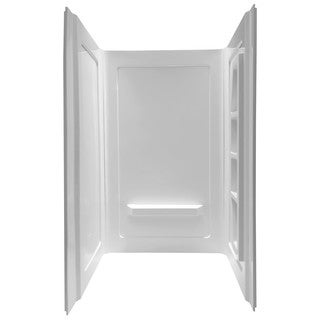 Anzzi Forum White Direct-to-Stud Alcove Shower Wall (3 Piece)