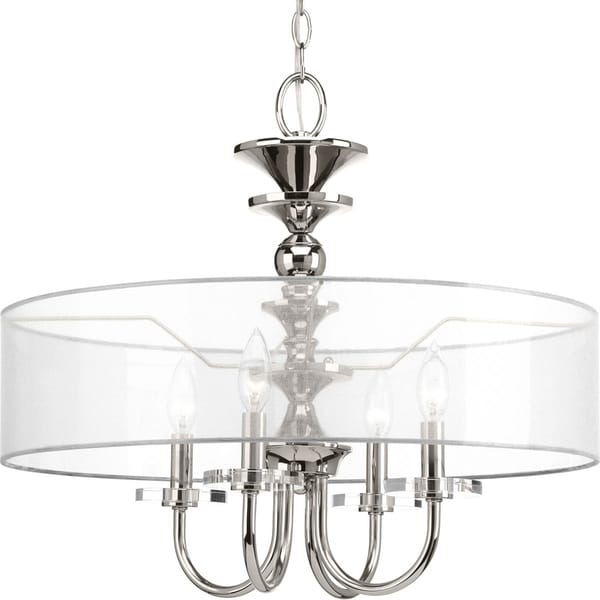 Marché Collection 4-Light Polished Nickel Pendant