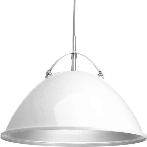 Tre Collection 1-Light White Pendant