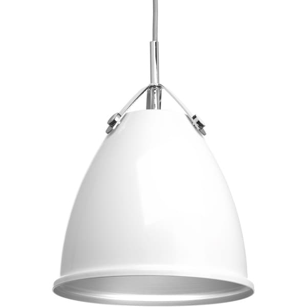 Tre Collection White Steel 1-light Pendant