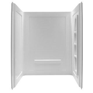ANZZI Forum 60 x 36 x 74-inch White Alcove Shower Wall