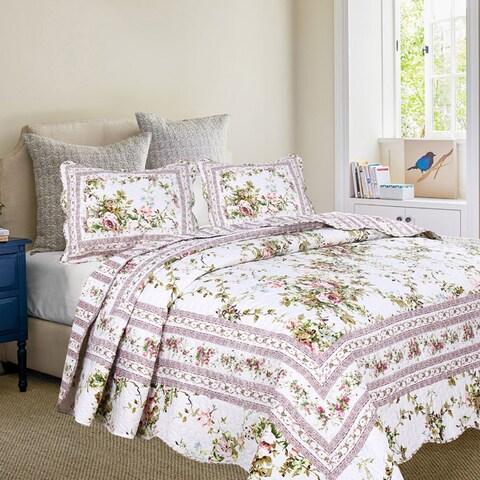 Primrose Garden Quilt Set with Standard Pillow Shams