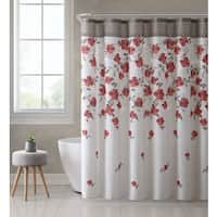 Ruthy's Textile Floral Design 72-inch Shower Bath Curtain