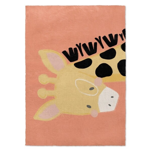Shop Kavka Designs Giraffe Orange/ Black/ Pink Area Rug