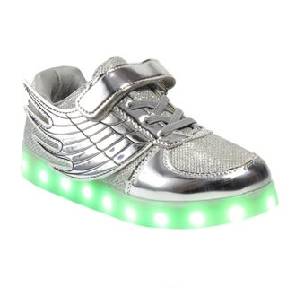 Blue Childrens K-Wingwoks Metallic Trim Sneakers Silver 11