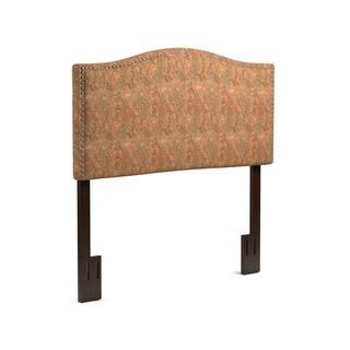 Handy Living Noleta Full/Queen Paisley Upholstered Headboard
