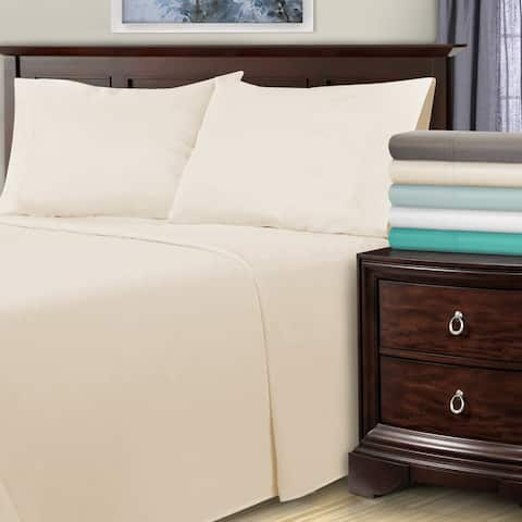 Miranda Haus 1800-Thread Count Cotton and Polyester Bed Sheet Set