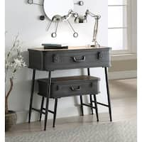 Urban Loft Wood/Metal 2-piece Trunk Table Set