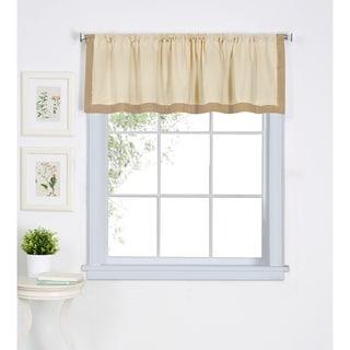 """Elrene Wilton Cotton Kitchen Window Valance - 60"""" w x 15"""" l"""
