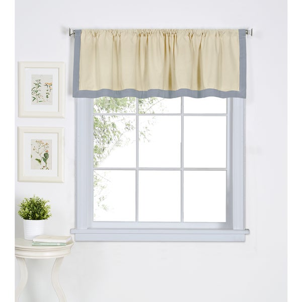 Elrene Wilton Cotton Kitchen Window Valance Free