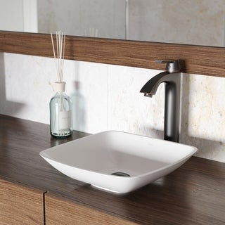 VIGO Hyacinth Matte Stone Vessel Bathroom Sink