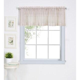 """Elrene Linen Stripe Kitchen Window Valance - 60"""" w x 15"""" l"""