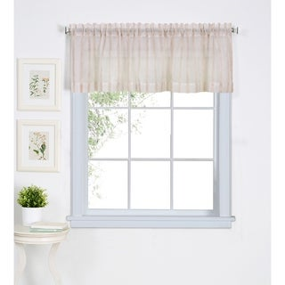 Elrene Linen Stripe Kitchen Window Valance