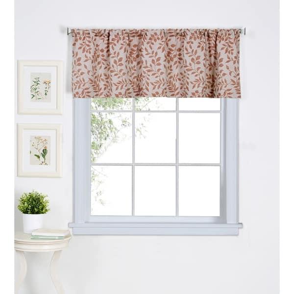 Shop Elrene Serene Kitchen Window Valance - 60\