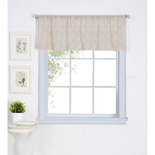Elrene Taylor Beige Kitchen Window Valance