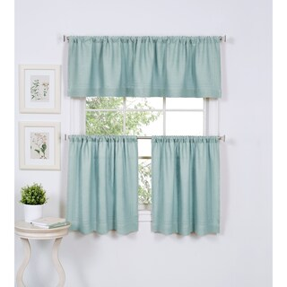 Elrene Cameron Linen Kitchen Window Valance (More options available)