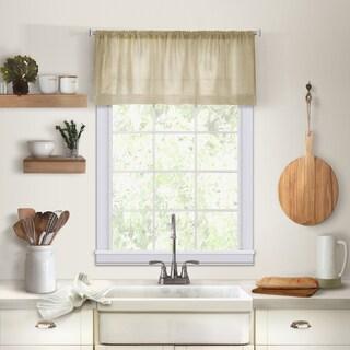Elrene Cameron Linen Kitchen Window Valance