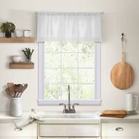 "Elrene Cameron Linen Kitchen Window Valance - 60"" w x 15"" l"