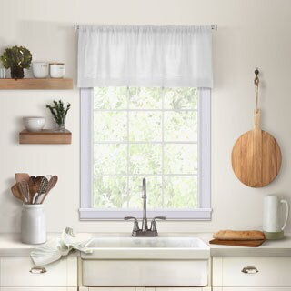 Elrene Cameron Linen Kitchen Window Valance