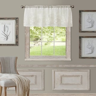 Elrene Addison Rod Pocket Sheer Window Curtain Valance
