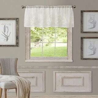 "Elrene Addison Rod Pocket Sheer Window Curtain Valance - 60"" w x 17"" l"