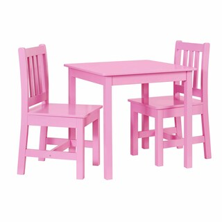 Jude Pink Kids Table and Chair Set