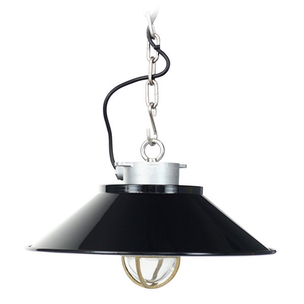 Devonport Vintage Black Metal Pendant Light
