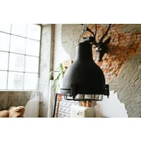 Castlemaine Black Brass Pendant Light