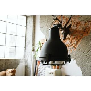 Castlemaine Black Brass Pendant Light