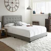 Sleep Sync Chandler Tufted Upholstered Leather Platform Bed 3 Colors