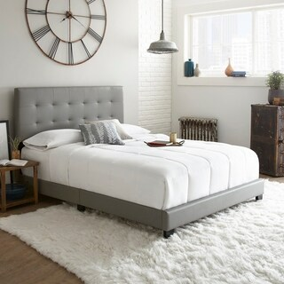 Sleep Sync Chandler Tufted Upholstered Leather Platform Bed 3 Colors
