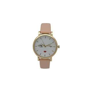 Olivia Pratt Women's Wink Chic Leather Watch