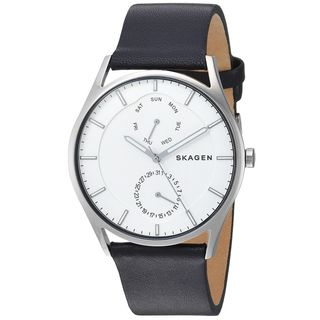 Skagen Men's SKW6382 'Holst' Multi-Function Black Leather Watch