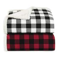 Eddie Bauer Cabin Plaid Sherpa Throw
