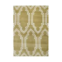 Alliyah Rugs Handmade Mustard Gold New Zealand Blended Wool Rug (8' x 10')