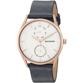 Skagen Men's SKW6372 'Holst' Multi-Function Blue Leather Watch