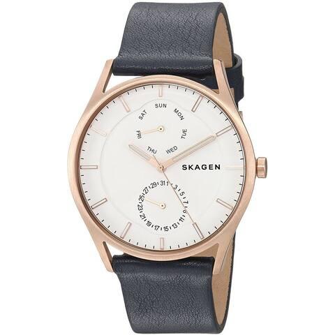 Skagen Men's SKW6372 'Holst' Multi-Function Blue Leather Watch
